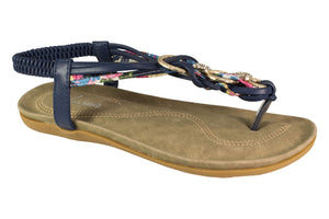 Kirra Beach Sandals-Iris -Navy Sandal - Sole Sister Shoes