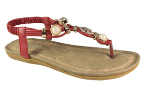 Kirra Beach -Lxia - Red Sandal - Sole Sister Shoes