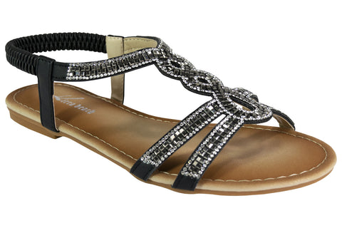 Karol - Large Size Bling Sandals - Sole Sister Shoes