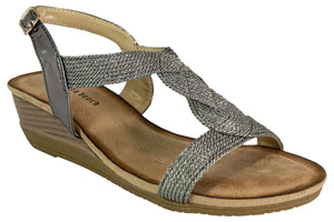 Kirra Beach - Sandal - Pewter -Kiara - Sole Sister Shoes