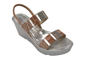Laura D'Este - Wedge Sandal - Lusaka - Tan