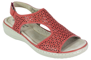 Comfort Leisure Summer Sandal - Lilian - red - Sole Sister Shoes