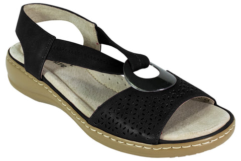 Comfort Leisure - Lynn - Comfort Sandal - Black - Sole Sister Shoes