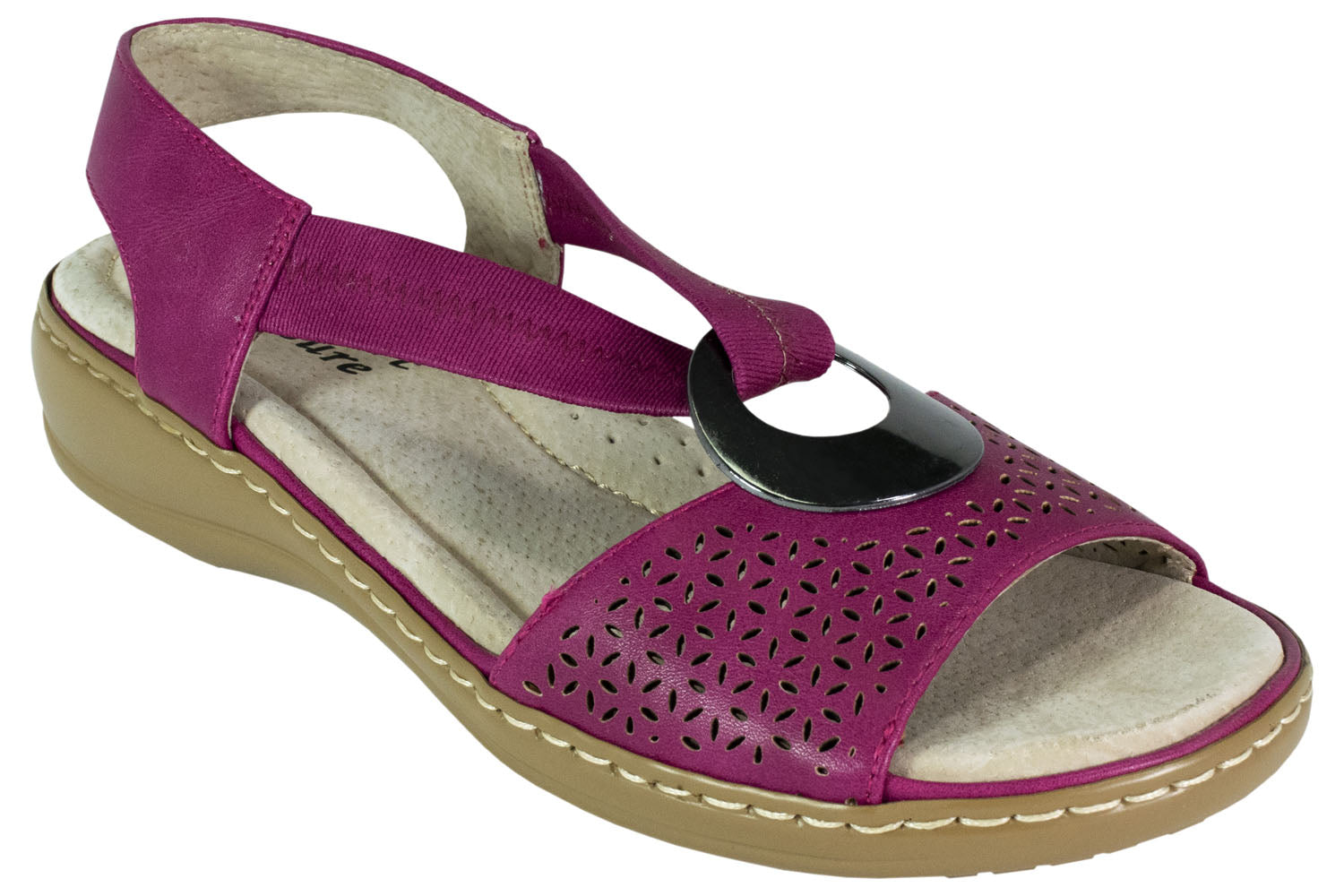 Comfort Leisure - Lynn - Comfort Sandal - Fuchsia - Sole Sister Shoes