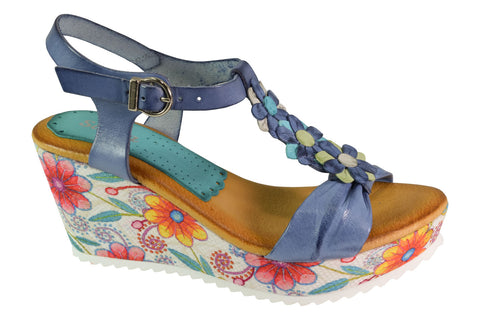 Marila - Mellow - Blue Wedge - Sole Sister Shoes