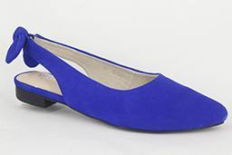 Chrissie - Connie - Cobalt Blue Suede Flats - Sole Sister Shoes
