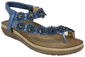 Kirra Beach- Sandal - Trudy - Blue - Sole Sister Shoes