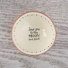 Natural Life Tiny Trinket Bowl - Love you to the Moon and Back