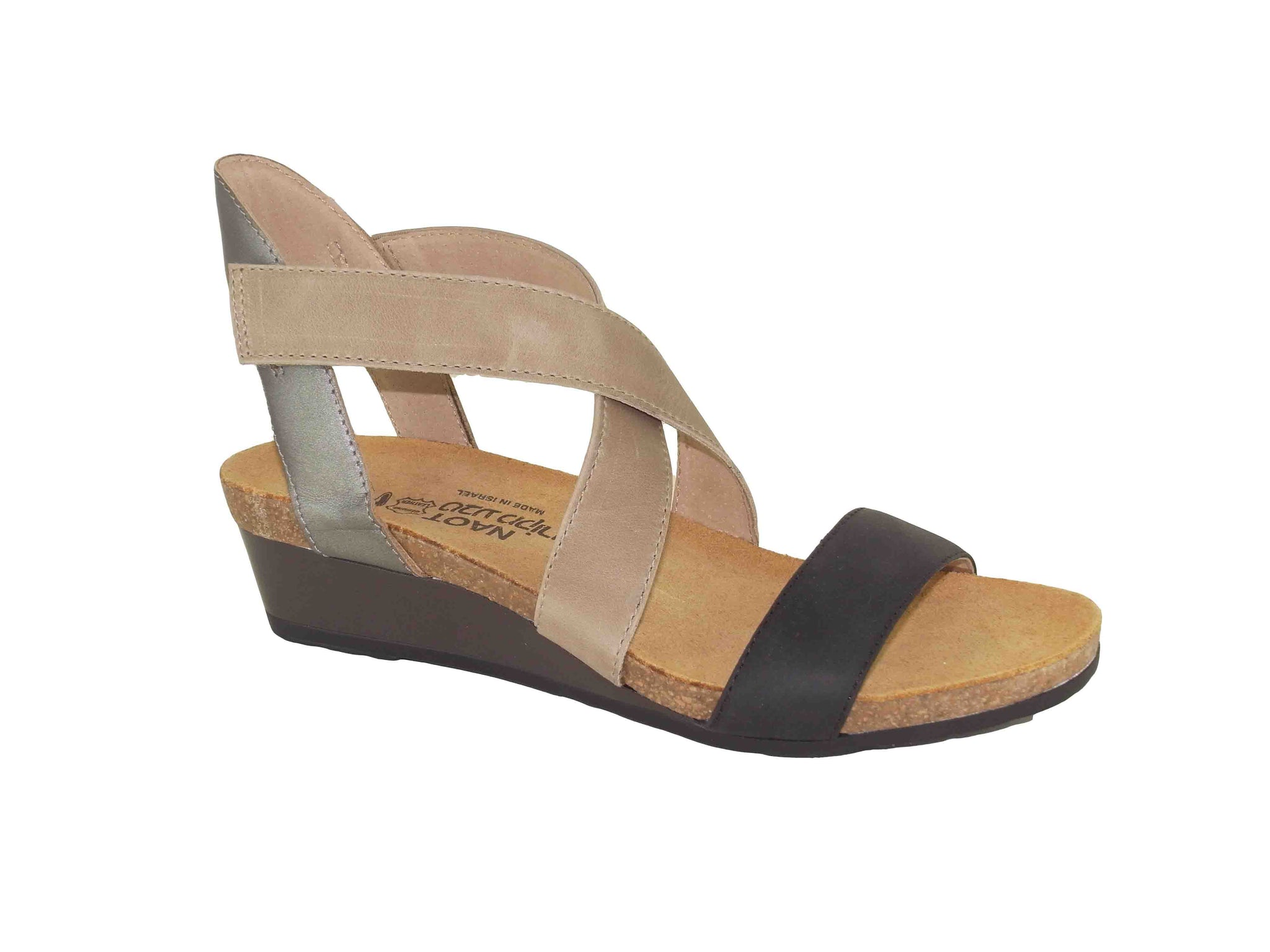 Naot - Vixen Sandals - Coal Oily Khaki Beige