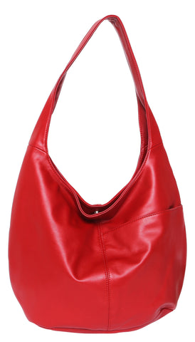 Cosgrove and Beasley - Hobo Bag - Red - Sole Sister Shoes