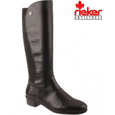 Rieker Long Boot Y0795-00 - Free Shipping