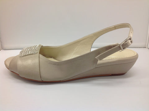 Clarice - Beth - Mushroom Satin - Sole Sister Shoes