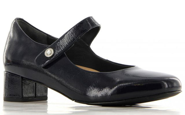 Ziera - Kitty - Navy Patent Leather Heels