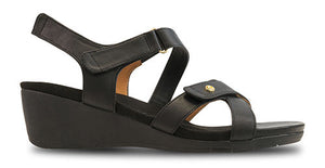Revere - Casablanca - Black Wedge Sandal