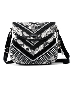 Sakroots - Black White Wanderlust - Shoulder Bag