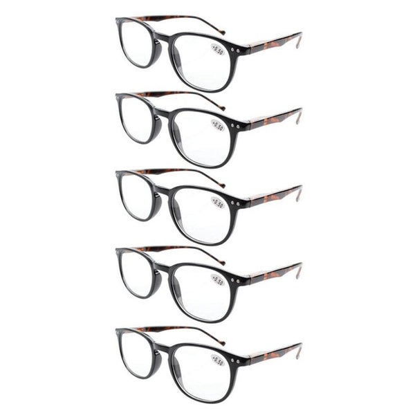 31c7f7826b3 ... 5-Pack Spring Hinges 80 s Reading Glasses Includes Sun Readers +0.5 0.75   ...