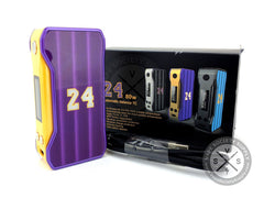 24 Automatic Balance 80W TC Box Mod by Reekbox Purple/Yellow