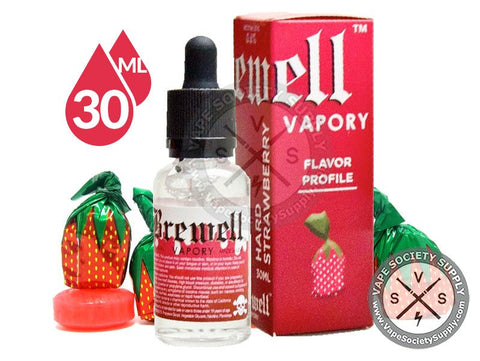Hard Strawberry Ejuice - Brew #22 by Brewell Vapory 30ml