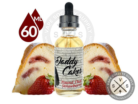 Pound That Strawberry Ejuice by Daddy Cakes E-Liquid 60ml