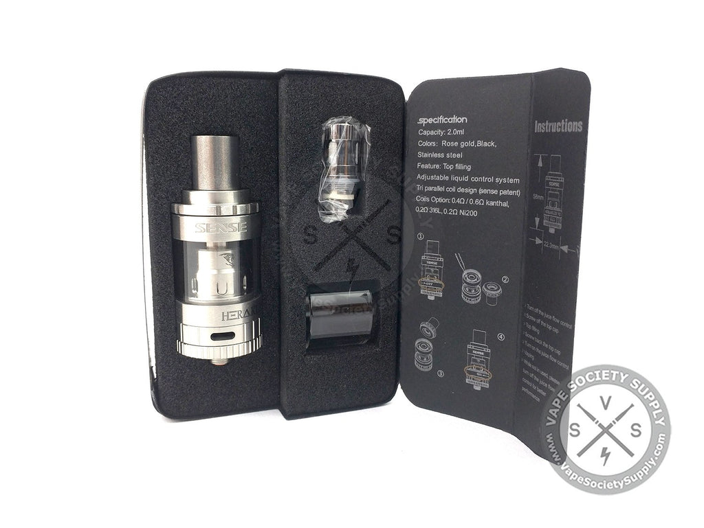 Stainless Steel Herakles V2-Short Sub Ohm Tank by Sense
