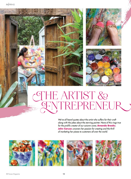 Noosa Magazine - The Artist and Entrepreneur
