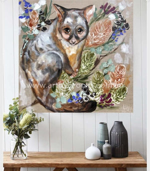 76 X76 Cm - Forget Me Not Possum Medium Sized Originals