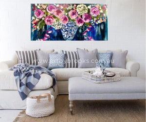 Autumn Grandiflora - Original On Canvas 75 X150Cm Originals