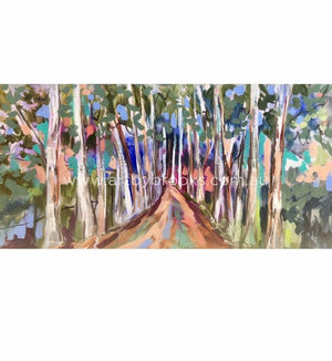 Avenue Of Lemon Scented Gums - Art Print Art