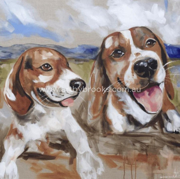 Beagle Buddies -Art Print Art