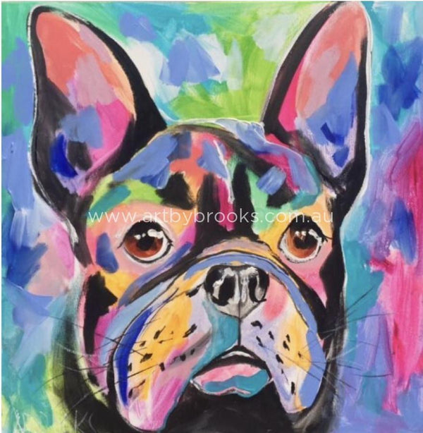 Black French Bulldog - Art Print Prints