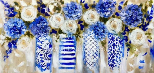 Blue Cherish - Art Print Art