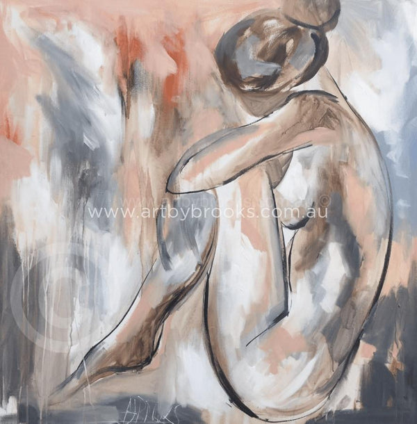 Blush Nude 1 - Art Print Art