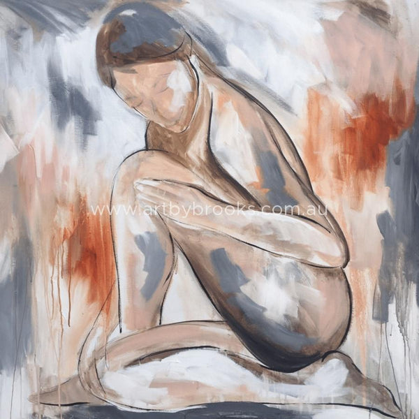 Blush Nude 2 - Art Print Art