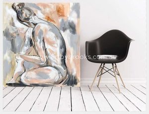 Blush Nude 5 - Original On Canvas 90X100 Cm Original