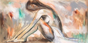 Blush Nude Reclining 2 - Art Print Art