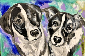 Bonnie And Clyde - Pet Portrait 50X75 Cm Pet