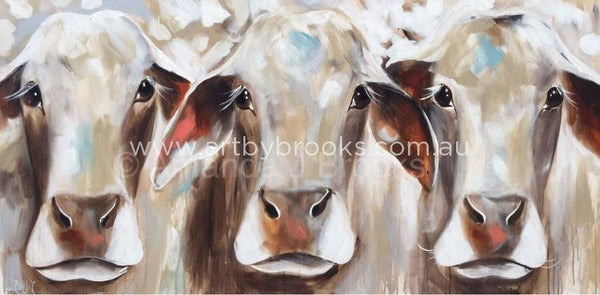 Bovine Beauties -Art Print Art Prints