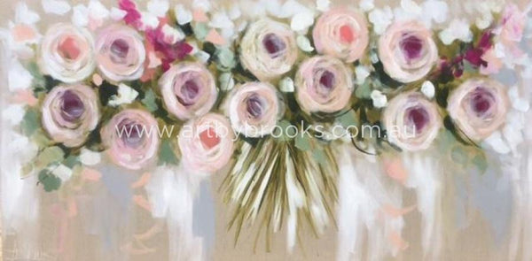 Bush Roses And Silver Gum - Art Print 50X100Cm Art