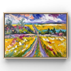 Canola Country -Original On Belgian Linen 90X120 Cm Medium Sized Originals