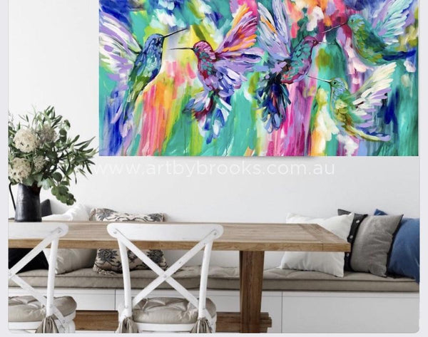 Chasing Rainbows - Original On Canvas 75X150 Cm Medium Sized Originals