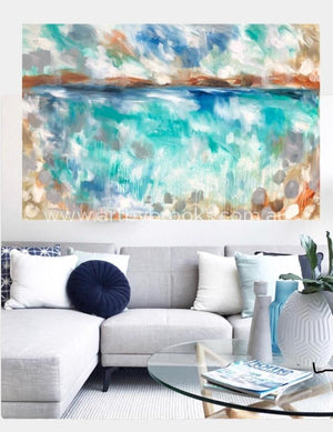Coastal Sanctuary - Original On Canvas 120 X180 Cm Originals