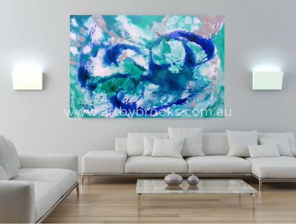 Cobalt Equinox - Original On Canvas 120 X180 Cm Originals