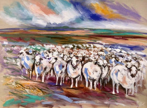 Counting Sheep - Art Print Art