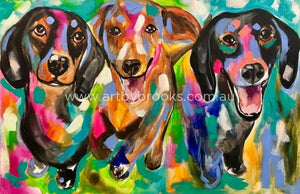 Dachshunds - Pet Portrait 60X90Cm Originals