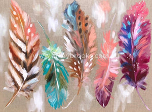 Delicate Feathers - Art Print Art