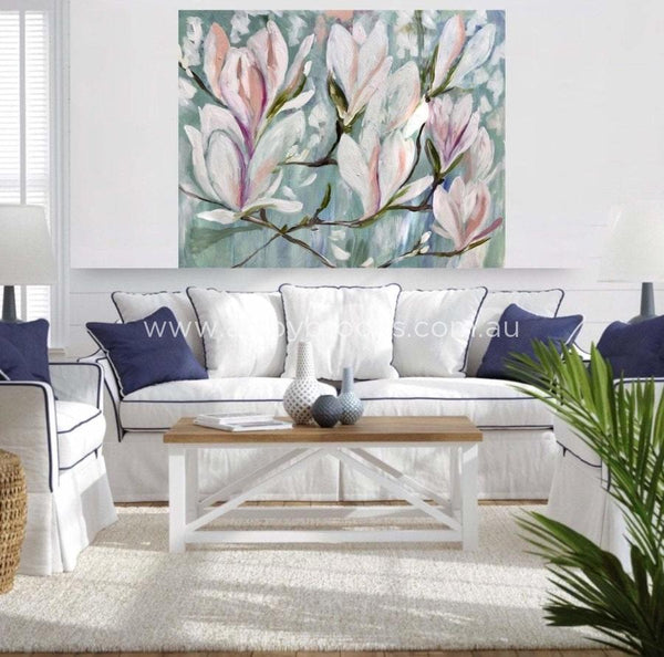 Elegance Magnolia - Original On Gallery Canvas 120X150 Cm Medium Sized Originals