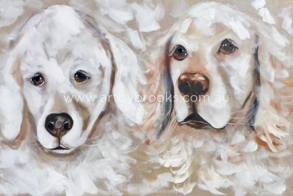 Emma And Sophie - Pet Portrait 60X90Cm Originals