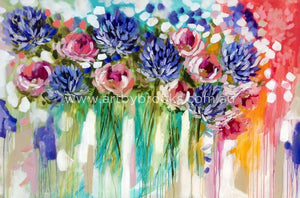 Eternal Summer - Original On Canvas 120 X180 Cm Originals