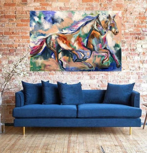 Feel The Thunder -Original On Canvas 100 X150 Cm Originals