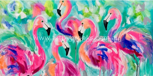Flamingo Lakes - Art Print Art